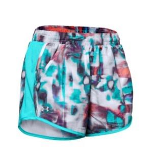 NWT Under Armour Printed Fly By Shorts